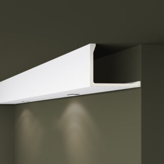 L2 Plastic Lightweight  Cornice Coving Indirect Lighting System - 2m