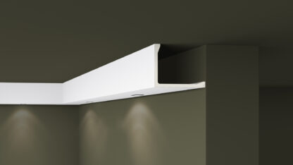 L2 Plastic Lightweight  Cornice Coving Indirect Lighting System - 2m