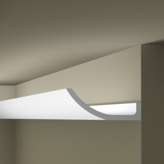 WT4 Plastic Lightweight  Cornice Coving Indirect Lighting System - 2.4m