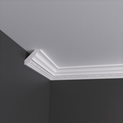 Small Egg and Dart Plaster Cornice Coving - 3m