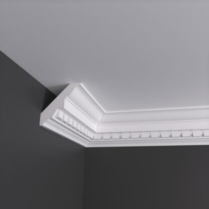 Large Dentil Plaster Cornice Coving - 3m