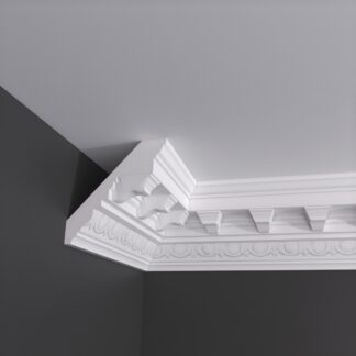 Egg and Dart with Block Plaster Cornice Coving - 3m