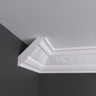 Honeysuckle Egg and Leaf Plaster Cornice Coving - 3m