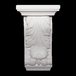 Medium Acanthus Plaster Corbel - H25.5 x W15.5 x D7.5cm
