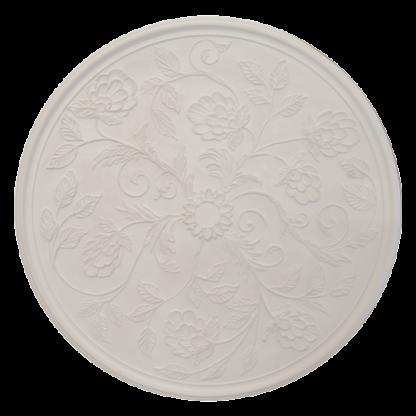 Victorian/Edwardian Flower Plaster Ceiling Rose - 47in / 119cm