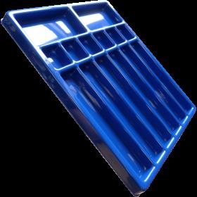 multi compartmental plastic components tray