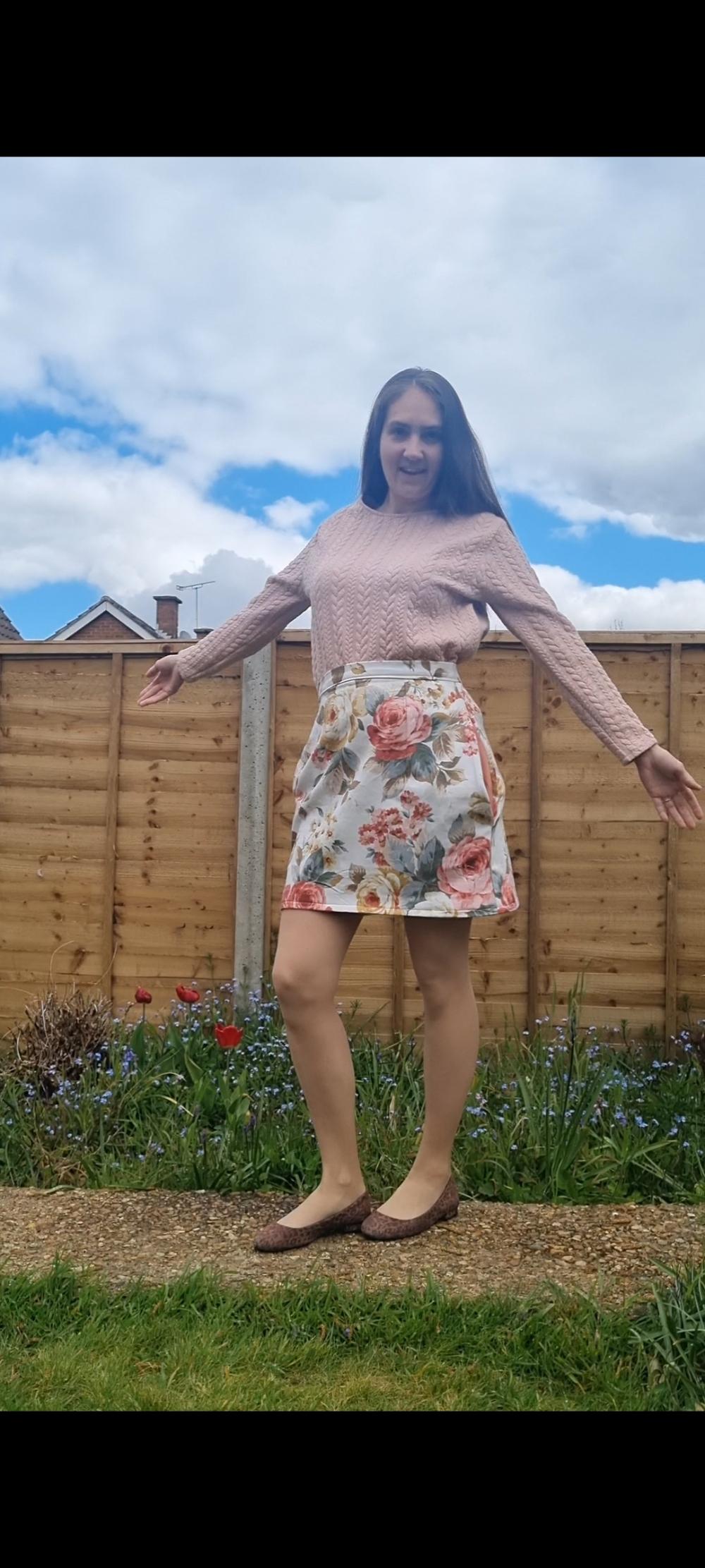 reversable skirt AVA sustainable fashion  childrens wear P.S