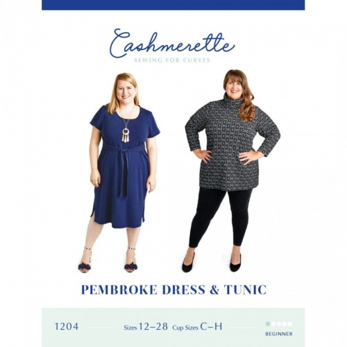 Pembroke Dress and Tunic Pattern By Cashmerette Sewing for Curves Dressmaking for Curves Brand New Printed Paper Pattern Sewing for Women