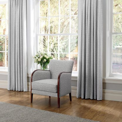 Ashcott - Dove, Pinch Pleat Curtains