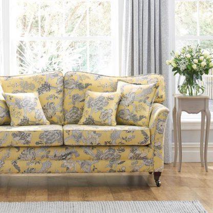 Blenheim - Saffron Sofa, Althorp Dove Grey Chair, Reupholstery