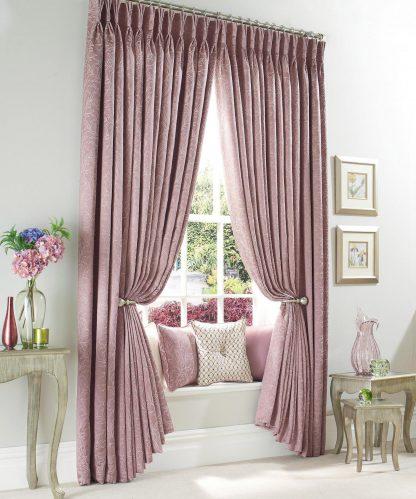 Charleston - Heather, Pinch Pleat Curtains