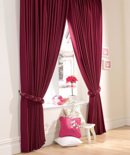 Cardinal - Wine, Pencil Pleat Curtains
