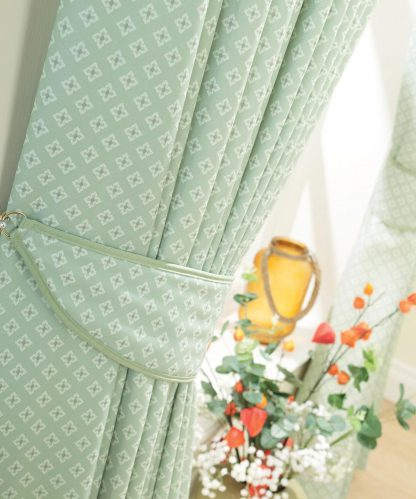 Carnaby - Mint, Pinch Pleat Curtains