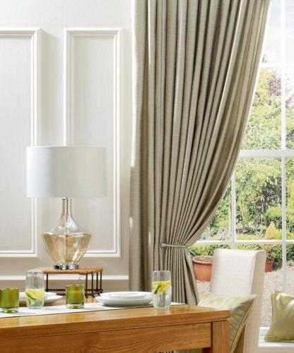 Ennis - Natural, Pencil Pleat Curtains