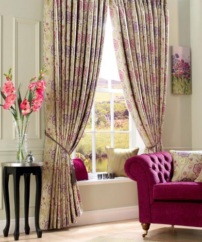 Estella - Jewel, Pinch Pleat Curtains