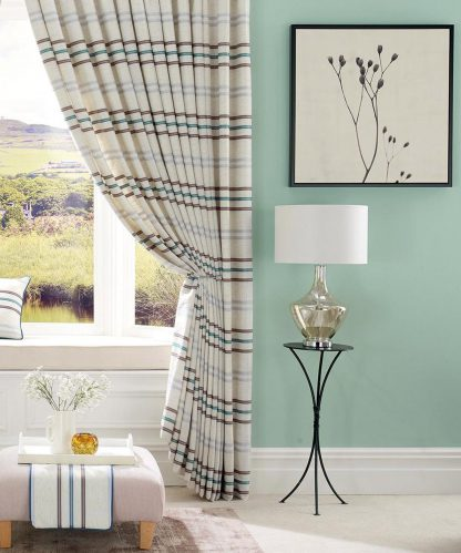 Firenze - Teal, Pinch Pleat Curtains
