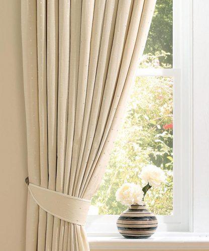 Francesca - Ivory, Pencil Pleat Curtains