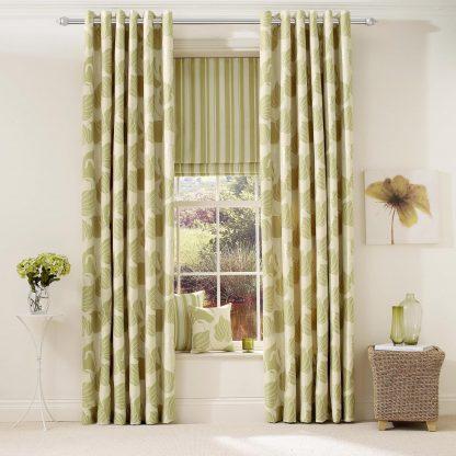 Lily - Pistachio, Pencil Pleat Curtains