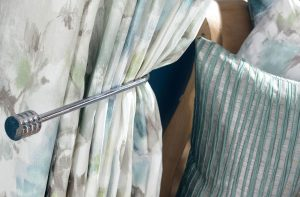 Lilly - Ocean, Pencil Pleat Curtains