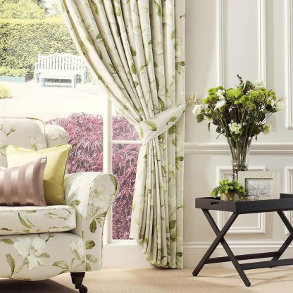 Magnolia Gardens - Linen, Pinch Pleat Curtains