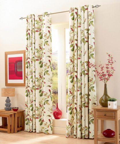 Magnolia Gardens - Chintz, Eyelet Curtains
