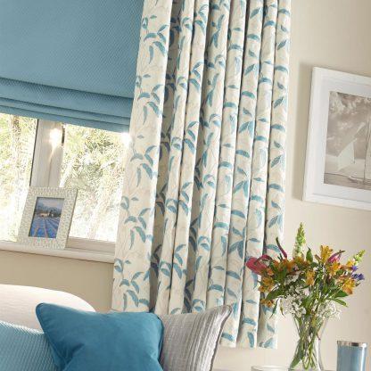 Menara - Sky Blue, Eyelet Curtains
