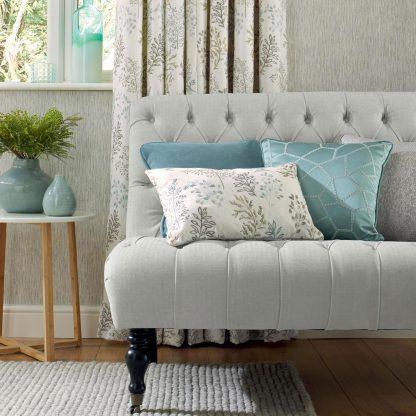 Sofa reupholstered in Moray - Dove
