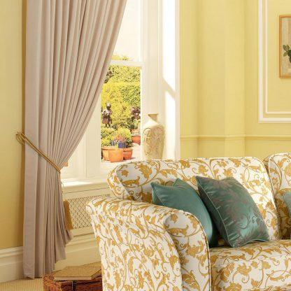 Perdita - Cream, Pinch Pleat Curtains