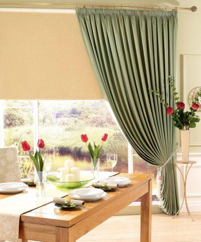 Strata - Sauterne, Pencil Pleat Curtains