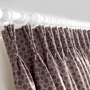 Sotherby - Rosso, Pencil Pleat Curtains