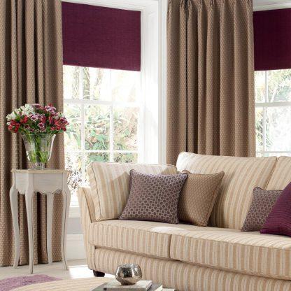 Scala - Bronze, Pencil Pleat Curtains