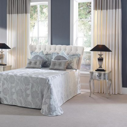 Scala - Ivory & Dove, Eyelet Curtains
