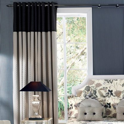 Scala - Dove & Noir, Eyelet Curtains