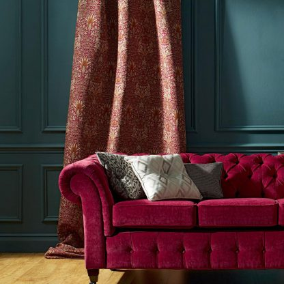 Snakeshead Reupholstery - Claret and Gold