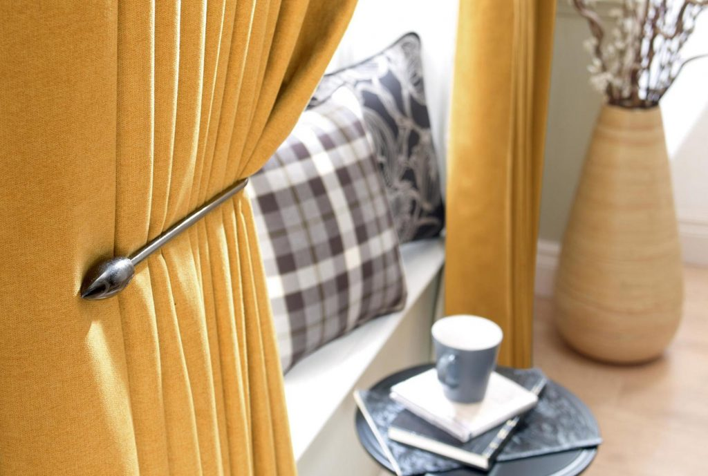 Savannah - Gold, Pinch Pleat Curtains