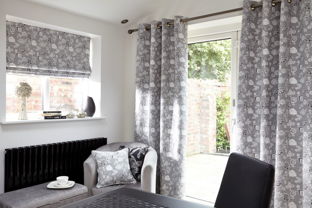 Sarona - Charcoal made to measure curtains and blinds