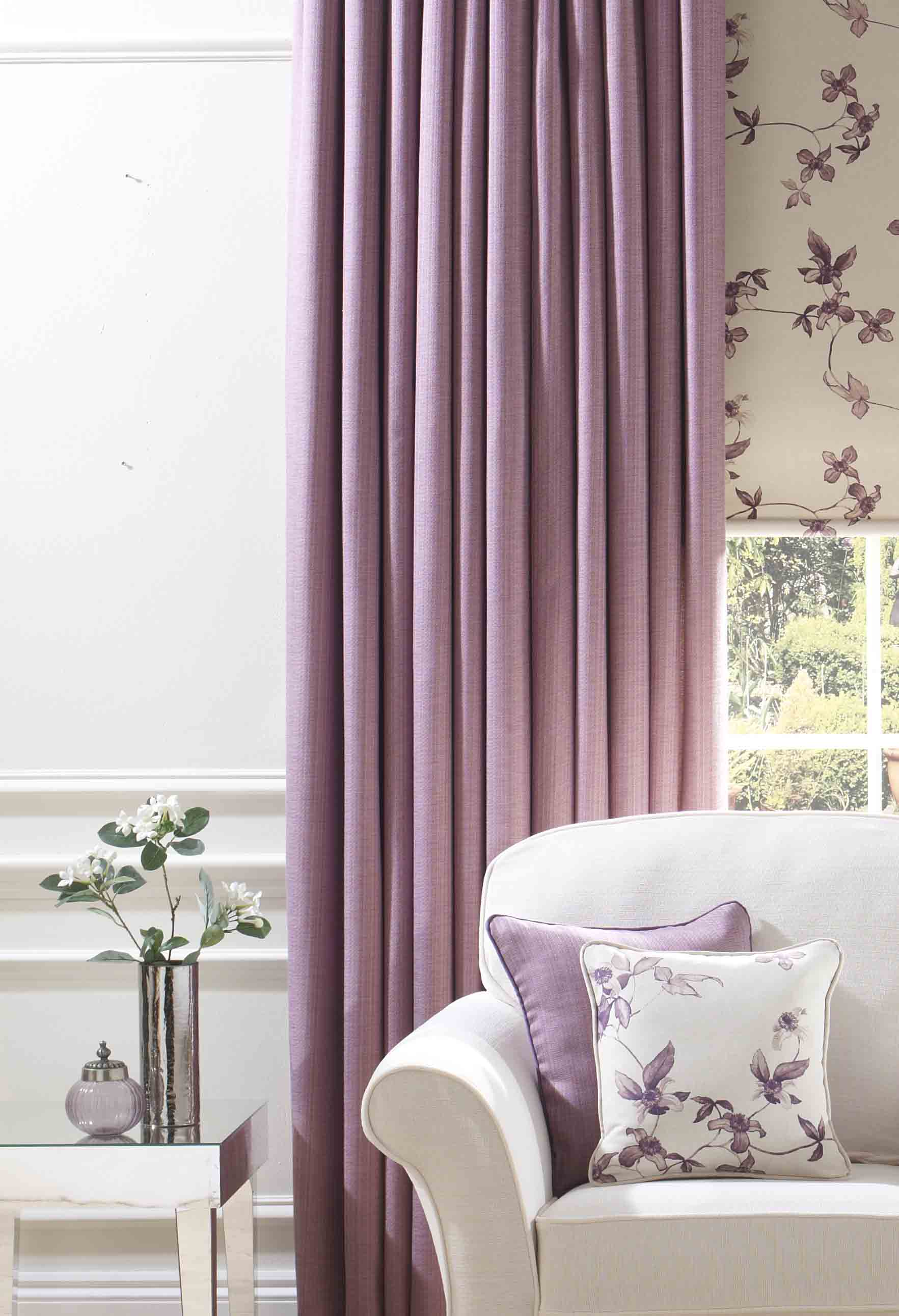 Gemma - Lavender made to measure curtains
