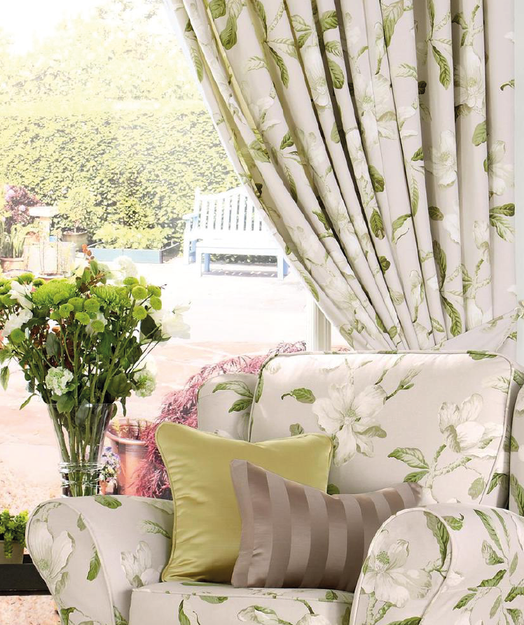 Magnolia Gardens - Linen made to measure curtains
