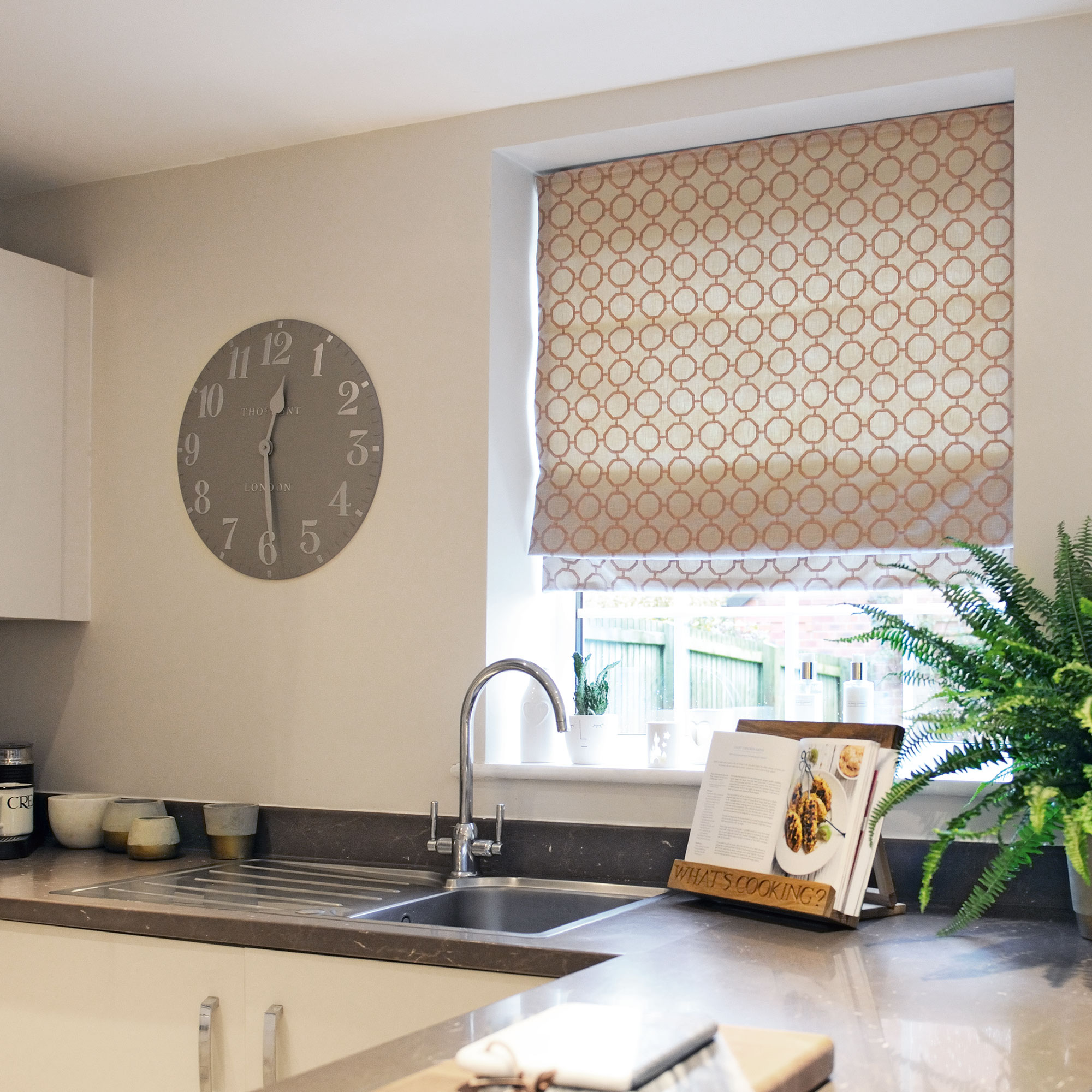 Roman blind - Glamour, Blush fabric
