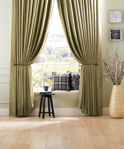 Savannah - Citrus, Pencil Pleat Curtains