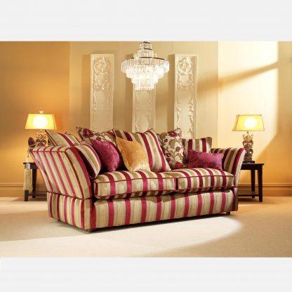 Venetian Stripe - Claret/Gold, Reupholstery