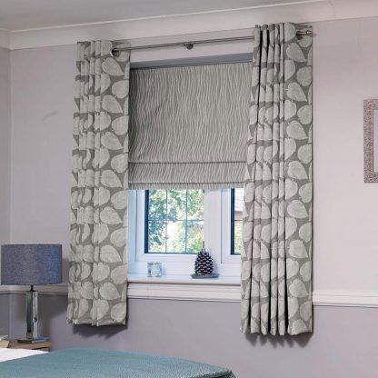 Wickham - Ash, Eyelet Curtains