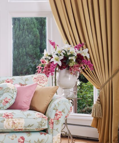 Wentworth - Antique, Pencil Pleat Curtains