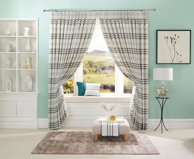 Firenze - Teal made to measure curtains