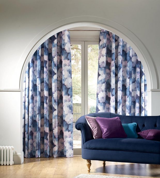 Secrecy - Bluebell made to measure curtains