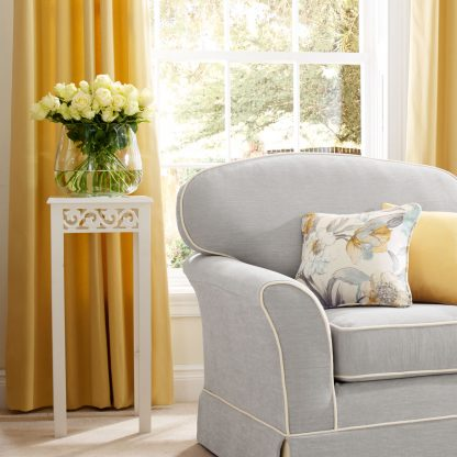 Strata - Buttercup, Pencil Pleat Curtains