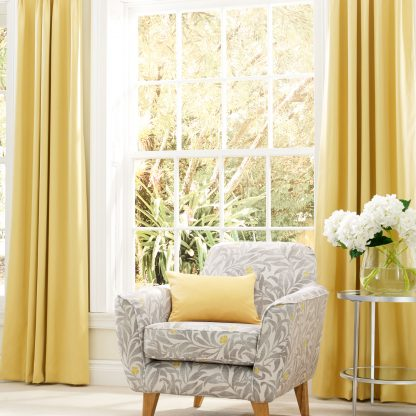 Strata - Buttercup, Pinch Pleat Curtains