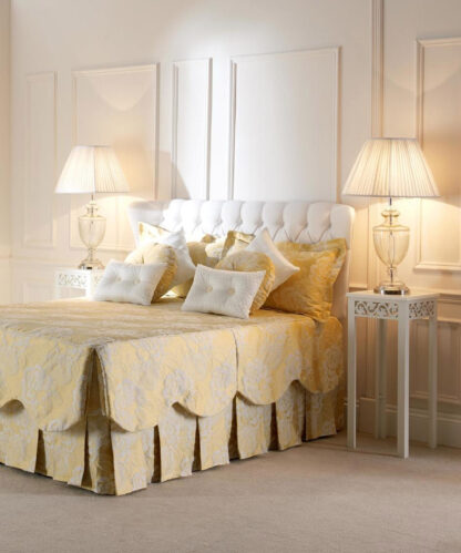 Kenzie - Buttercup, Pinch Pleat Curtains and Elegance Bedspread