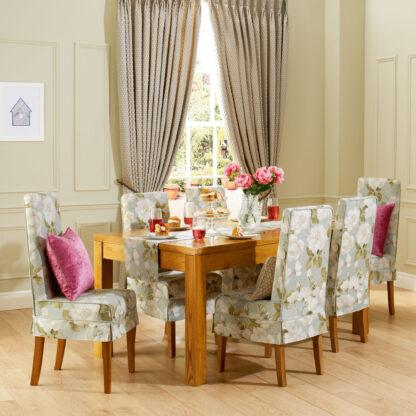 Jasmine - Duck Egg, Designer Elite Dining Chair Covers