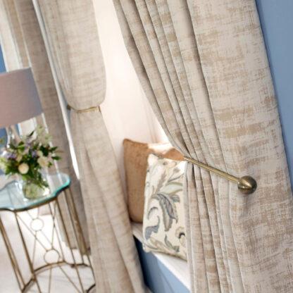 Imagination - Limestone, Pencil Pleat Curtains